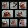 black and white nails tutorial