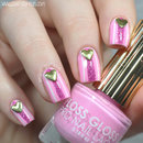 Pink Heart Studded Nails