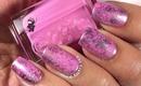 Saran Wrap Marble Nails by The Crafty Ninja