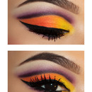 Sunset Inspired Cut Crease