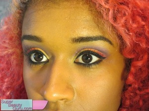 Sunset Makeup (with video and tutorial on my blog) and curly red hair :D   http://superbeautyguru.com/summer-sunset-makeup-tutorial-how-to-wear-colorful-eye-makeup   #makeup #sunset #colorful #eyes #hair #red #scene #beauty