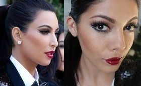 Kim Kardashian Christmas Card 2011 Makeup and Look for Less