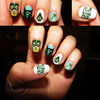 Green Arrow Nail Art