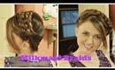 Easy Boho Braided Headband, Milkmaid Braids Hair Tutorial for Medium to Long Hair