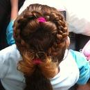 heart ponytail braid