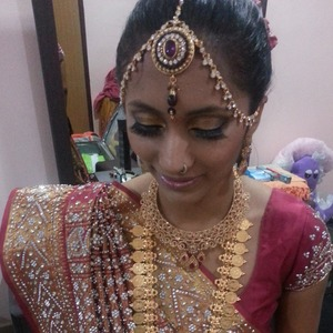 """My good friend Lori """"finally"""" gets married..bridal was done by me (:"""