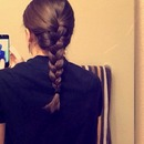 MY FIRST FRENCH BRAID! :D