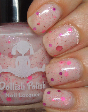 "Dollish Polish "" It's So Fluffy, I'm Gonna Die!"" from the Cartoon Series Collection. For more information please visit my full blog post: http://www.lacquermesilly.com/2013/06/06/dollish-polish-its-so-fluffy-im-gonna-die/"