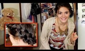 School Hair -- Easy Braided Updo + OOTD