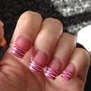 zebra nails white tips