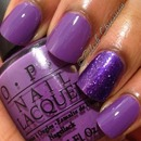 OPI Pack Your Booty Shorts and Smitten Polish Lovely Lilacs