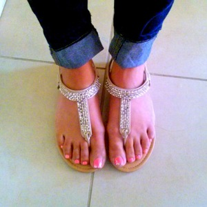 Nude diamond sandals from ross