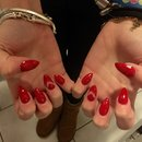 Arrow red nails