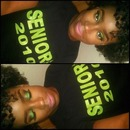Green eyes with PINK lips