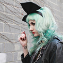 Mint hair and woven extensions
