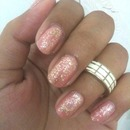Simple glittery nails
