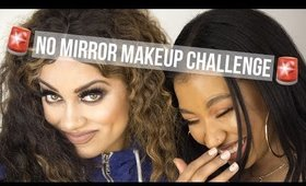 No Mirror Makeup Challenge Collab | Mua_Myesha and Goldenxoo