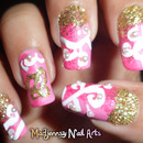 Swirls and Wedding Rings Nail Art by Madjennsy