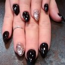 black with glitter
