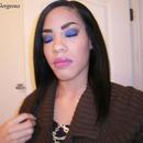 FOTD: Dark Blue Smoky Eye & Purple Lips