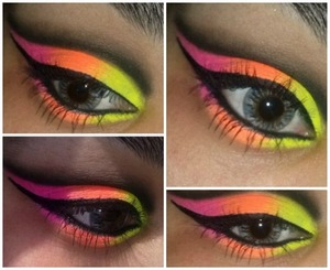 Created using the sleek palette-Acid and using nyx jumbo pencil in milk as a base :)