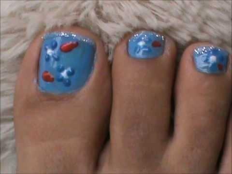 toe nail art with 3d nail art pens design ideas cost