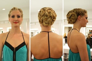 """More than a Braid"" Cristophe Beverly Hills did a segment on red carpet hair, here is our model Lucy styled by Sami Eid."