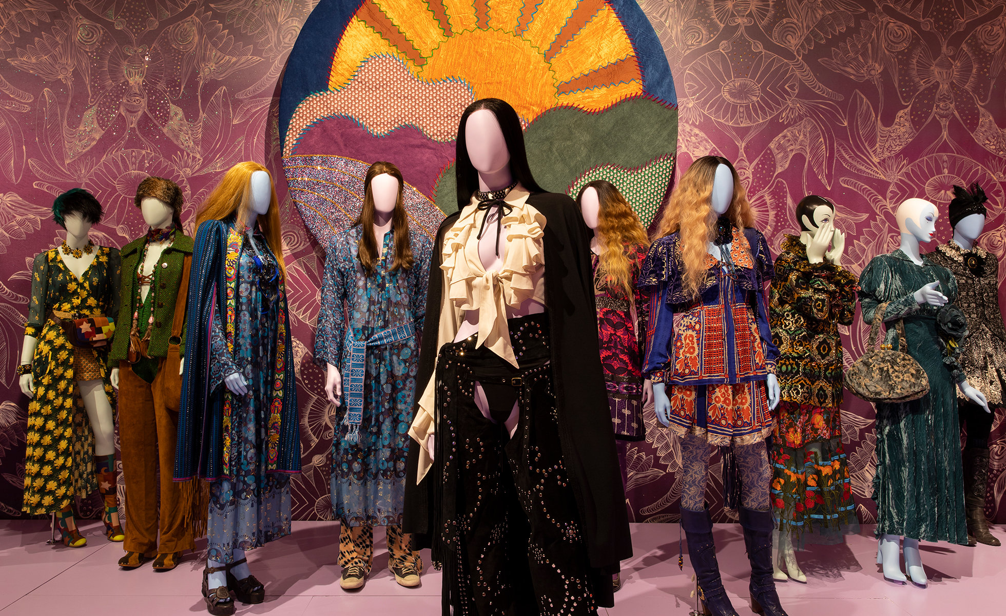 Installation view of The World of Anna Sui at the Museum of Arts and Design, New York | Photo: Jenna Bascom