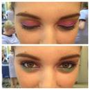 colourful evening makeup