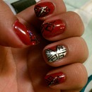 Red, Black, Silver, Tribal, Nails