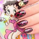 Betty Boop Inspired Nail Art