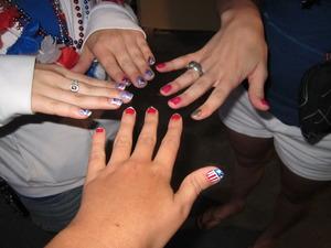 4th of July Nail Fun !