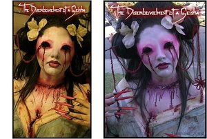 Zombie Walk one year, I went as a zombie geisha. All you see before you was designed and constructed by me! <3