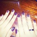 my pink & black nails