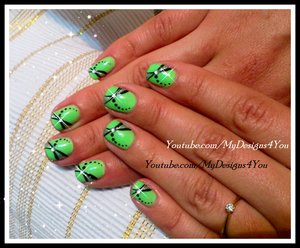 EASY SUMMER DRAGONFLY NAIL ART DESIGN FOR SHORT NAILS. https://www.youtube.com/watch?v=YaMY03vPfOw