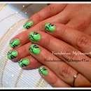 Easy Summer Dragonfly Nail Art Design For Short  Nails