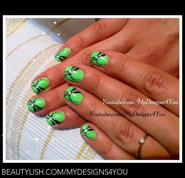 Easy Summer Dragonfly Nail Art Design For Short Nails Liudmila Z