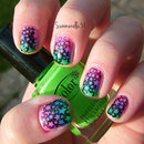 Lisa Frank Inspired Nails