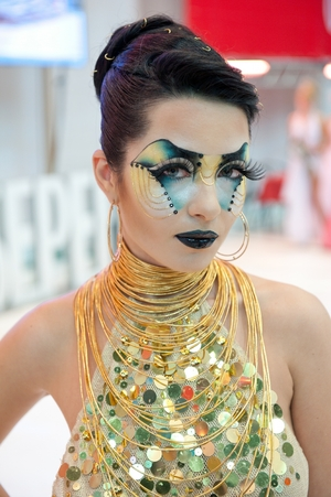 My work at the International Makeup Contest Nevskie Berega in Saint Petersburg 3d place