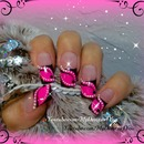 Hot pink abstract french