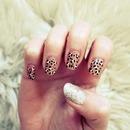 glittery leopard nails