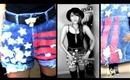 DIY Flag Cut Off Shorts: Stenciling & Distressing