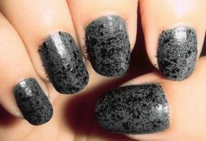 Grey and black glitter.