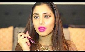 GIVEAWAY & review of Buxom Va Va Plum liquid lipstick.