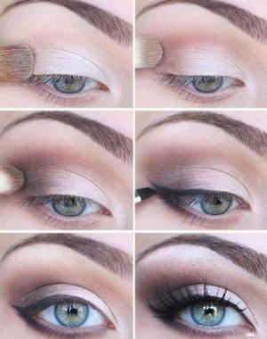 Natural EyeLook  #wingedeyeliner #natural #eyeshadow #nudepalette