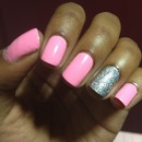 Pink Nails and Sparkle