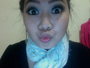 Winter Smokey look. Excuse the weird-y-ness lol