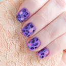 Purple Leopard Spots and Roses
