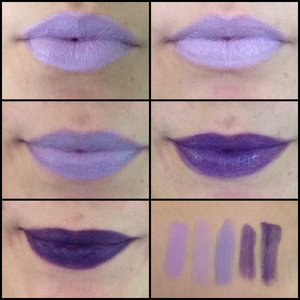 "Top Row: ""Sevilya"" by Fierce Magenta, ""Cast of Spell"" by Kleancolor Middlle Row:  ""Space Cadet"" by Impulse Cosmetics, ""Purple Machine"" by Kleancolor Bottom Row: ""Melancholy"" by Impulse Cosmetics, swatches in order of listing."