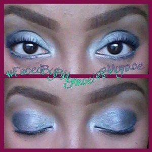 "This is the #FaceFoward of my look ""Icy"". #FacedByBMynroe"
